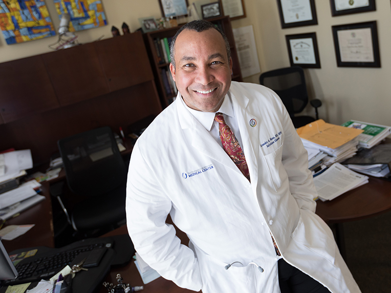 Dr. Leandro Mena is professor of infectious diseases and population health and chair of the Department of Population Health Science in the John D. Bower School of Population Health.