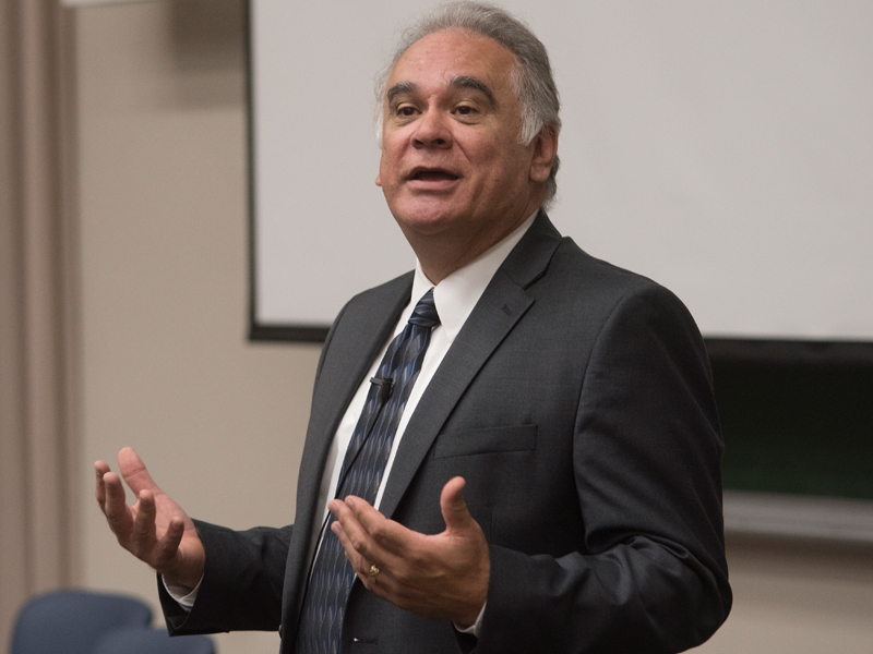 Dr. David Acosta, chief diversity and inclusion officer of the Association of American Medical Colleges, spoke with students and faculty Wednesday about inclusion excellence.