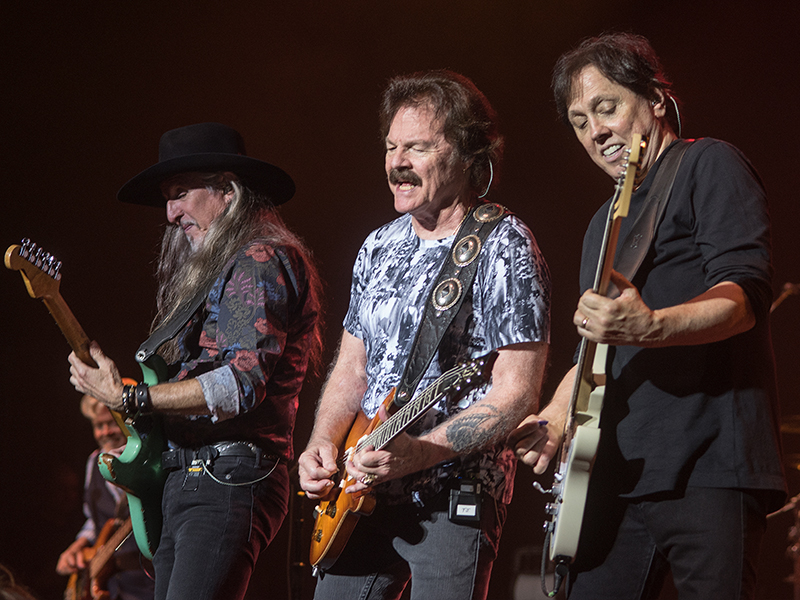 The Doobie Brothers rocked Thalia Mara Hall in Jackson September 14 during a benefit concert for the MIND Center. This year's event grossed more than $500,000 for Alzheimer's and dementia research. From left, band members Pat Simmons, Tom Johnston and John McFee play a trio of guitars.