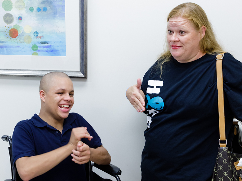Dixie Bergeron of Petal finds specialty care closer to home for son Jacoby since pediatric neurologist Dr. Mark Lee began seeing patients one day each week at the Children's of Mississippi clinic in Hattiesburg.