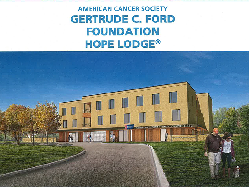 Artist rendering of the Ford Hope Lodge to be built adjacent to UMMC's Jackson campus.