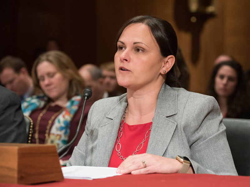 Dr. Jennifer Sasser, assistant professor of pharmacology and toxicology, testified to the Senate Labor, Health and Human Services, and Education Appropriations Subcommittee March 8.