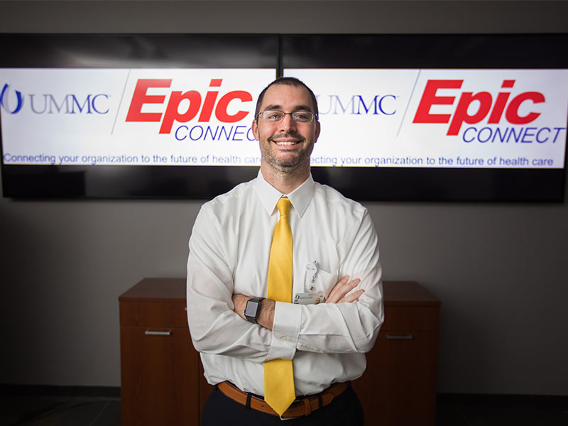 Kyle Brewer, Epic program manager, Division of Information Systems and UMMC Epic Connect