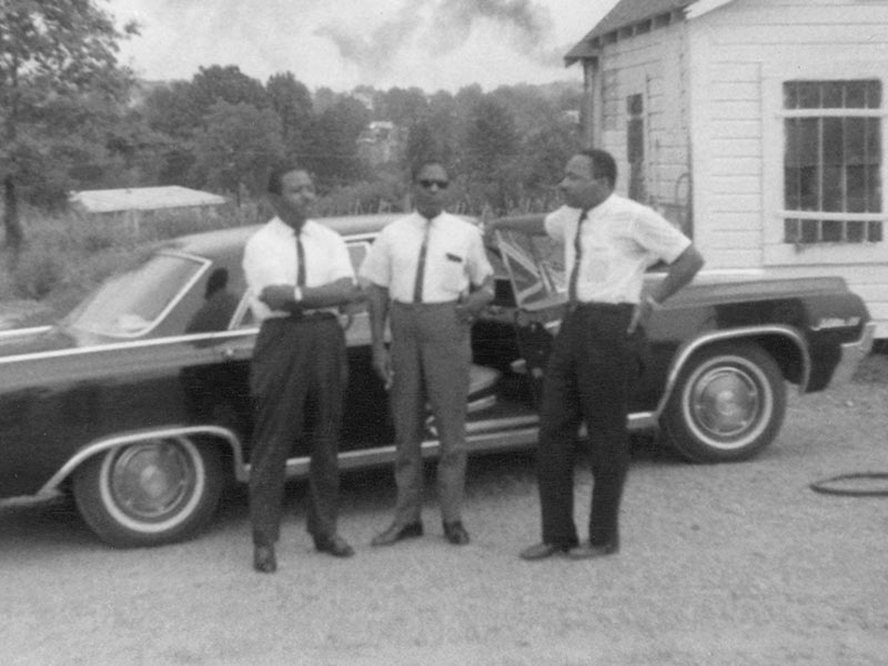 Civil rights icons, from left, the Rev. Ralph Abernathy Sr., Bernard LaFayette and the Rev. Martin Luther King Jr. meet in Neshoba County in July 1964. (Photo used with the permission of the Rev. Ed King, University Press of Mississippi and the Mississippi Department of Archives and History)