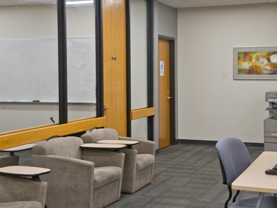 The Nursing Mother's Room is located in the Collaborative Learning Center inside Rowland Medical Library.