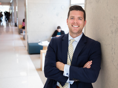 Tyler Callese traveled from Winston-Salem, North Carolina, where he is about to graduate from the Wake Forest School of Medicine, to deliver a presentation about an innovative guide for medical students.