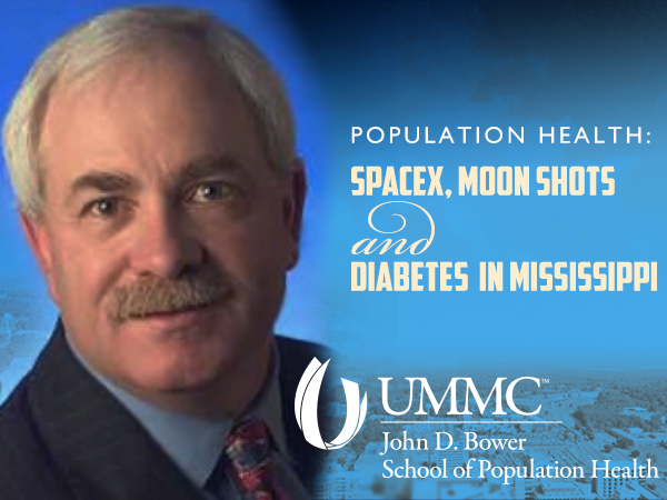 "Fred Goldstein, founder of the population health consulting firm Accountable Health, will present the second annual Distinguished Population Health Lecture ""SpaceX, Moon Shots and Diabetes in Mississippi"" April 13 at noon in the SHRP conference room."