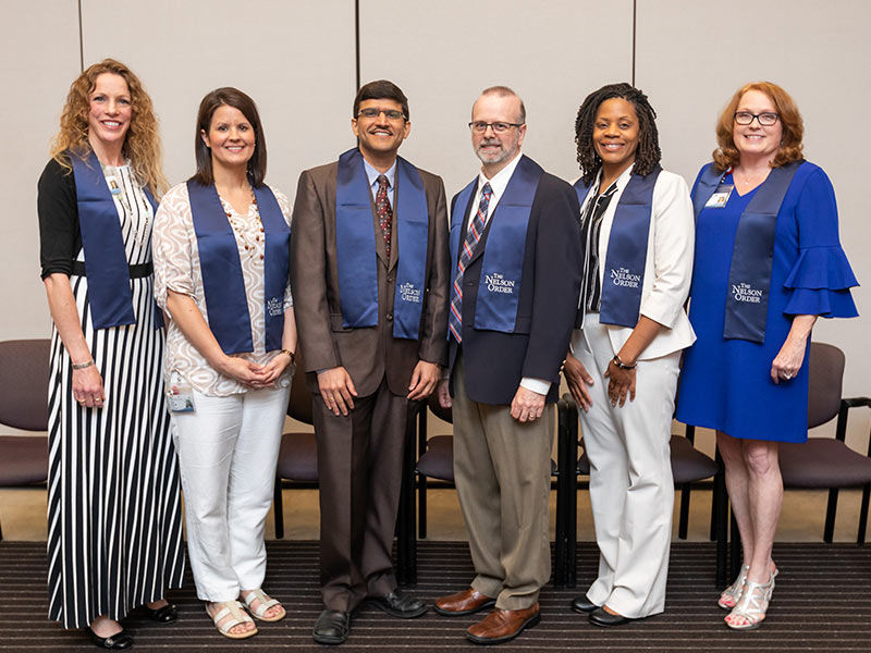 The six finalists for the 2018 Regions TEACH Prize are, from left, Dr. Jennifer Reneker, Cynthia Senior, Dr. Amol Janorkar, Dr. Scott Malinowski, Dr. Charletta Scott-Bennett and Dr. Kandy Smith.