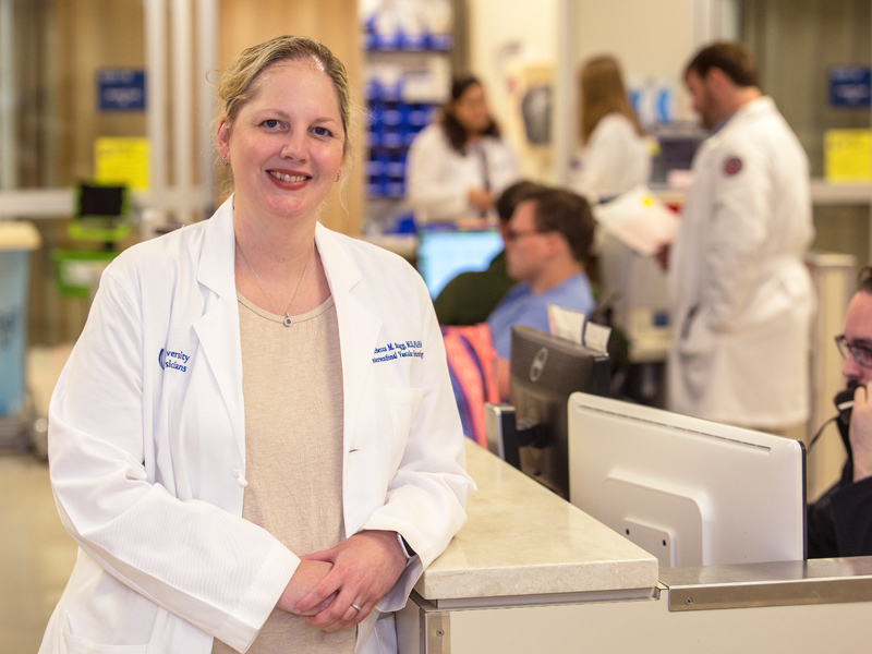 Dr. Rebecca Sugg, associate professor of neurology, is championing a new national stroke research study that counts UMMC as a participant.