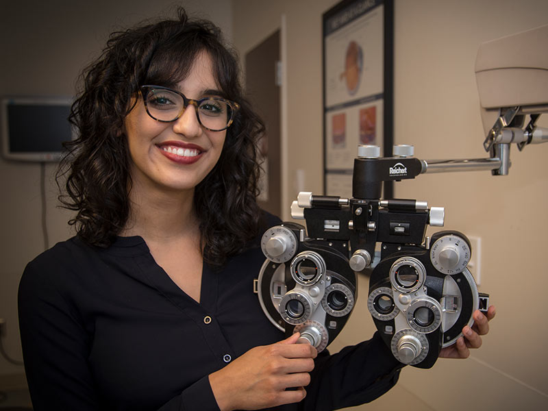 Medical school graduate Salma Dawoud is eager to begin her residency in ophthalmology at the University of Iowa, which has one of the nation's top-rated programs in that specialty.