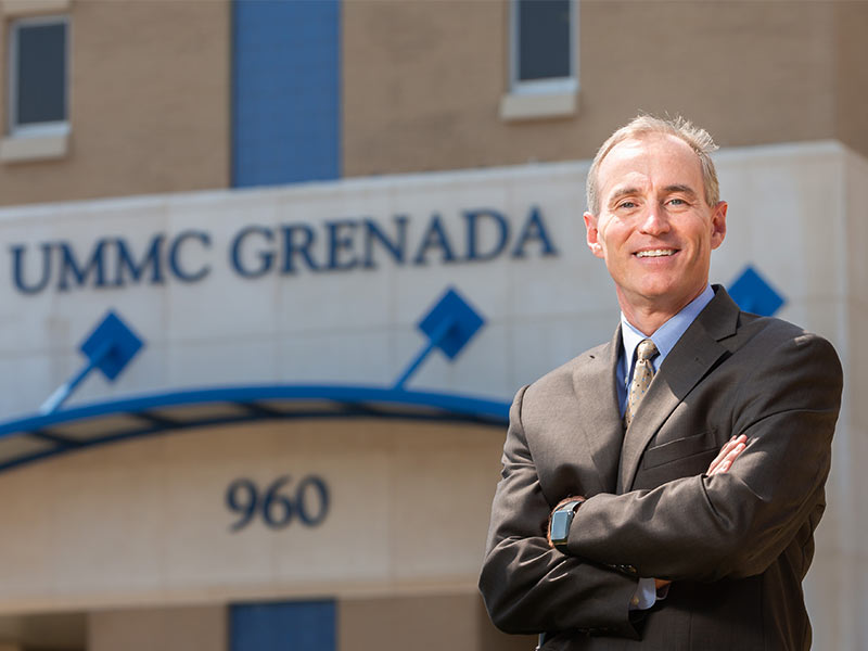 Wes Siglar is the new CEO of UMMC's hospitals in Grenada and Holmes County.