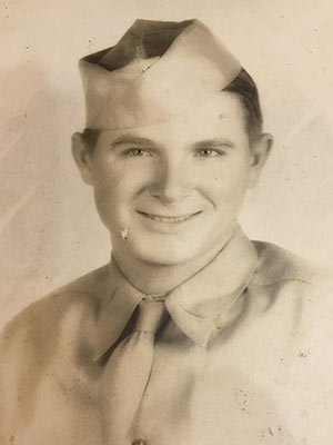 Clark enlisted in the Army Reserves in 1944 after high school graduation.