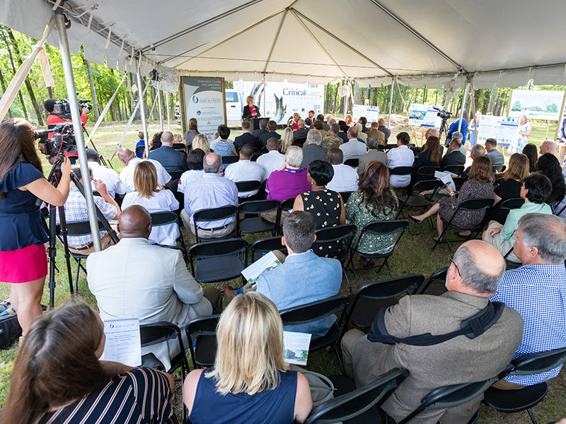 Local, state and federal leaders and Mississippi emergency responders were among those attending groundbreaking ceremonies for the Mississippi Center for Emergency Services.