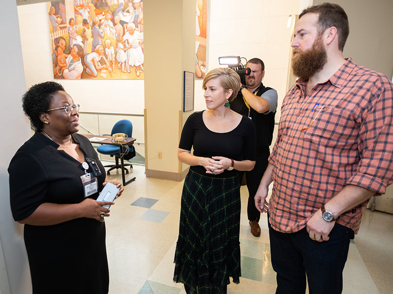 Dr. Mobolaji Famuyide talks with Erin and Ben Napier about the neonatal intensive care unit and how UMMC's pediatric expansion will include 88 private NICU rooms.