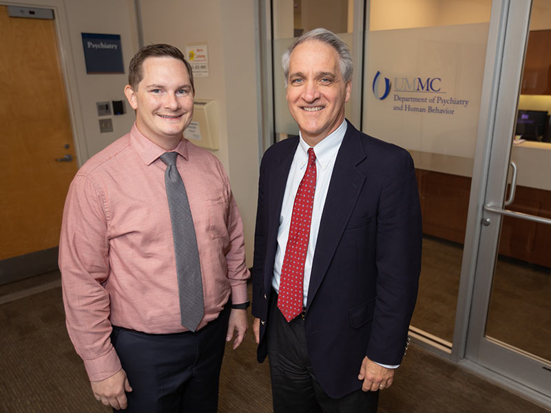 Dr. Dustin Sarver, left, and Dr. Philip Merideth are co-investigators in the HRSA-funded study.