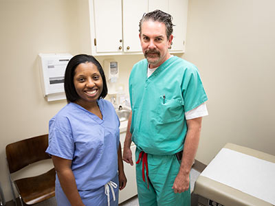 Among the newest providers at UMMC Grenada are general surgeons Dr. Jenetta Thompson and Dr. Doug Bowden.