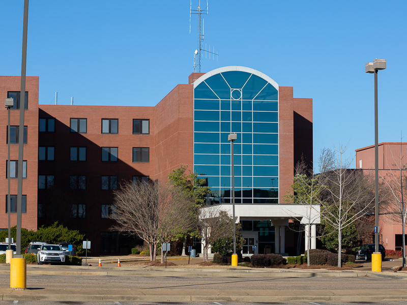 The South Oxford Center, or what used to be the Baptist Memorial Hospital, and the new home of the University of Mississippi School of Nursing in Oxford.