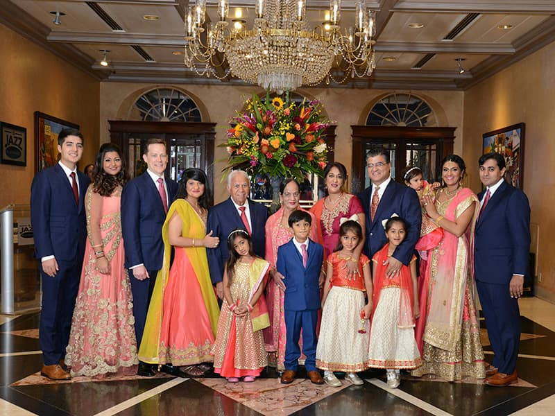 Sethi family at her parents' 50th wedding celebration