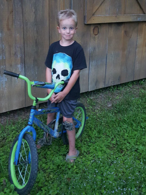 Bane Palmer of Newton today is a healthy 6-year-old who loves to ride his bike.