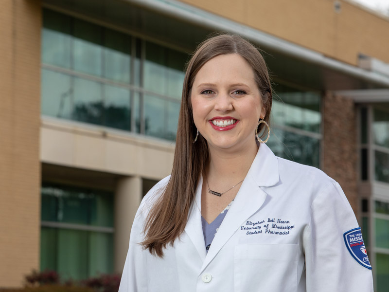 Elizabeth Hearn will graduate with her Pharm. D. from UMMC, but she'll be back in July for residency.