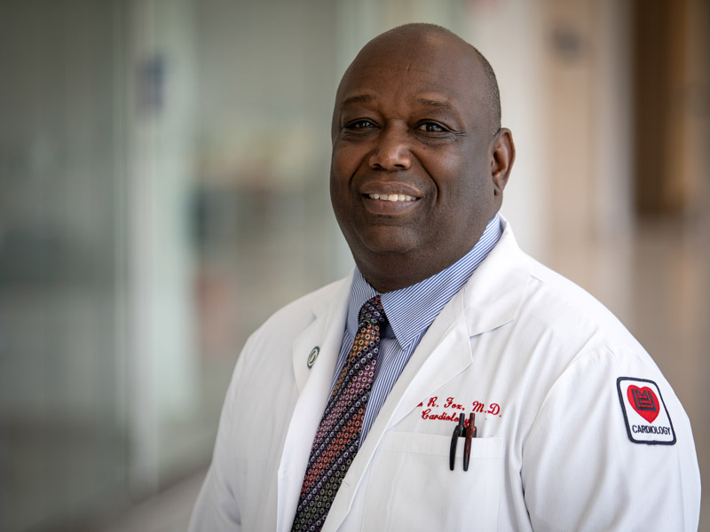 Dr. Ervin Fox, professor of medicine, is principal investigator for the Mississippi site of the Risk Underlying Rural Areas Longitudinal Study.