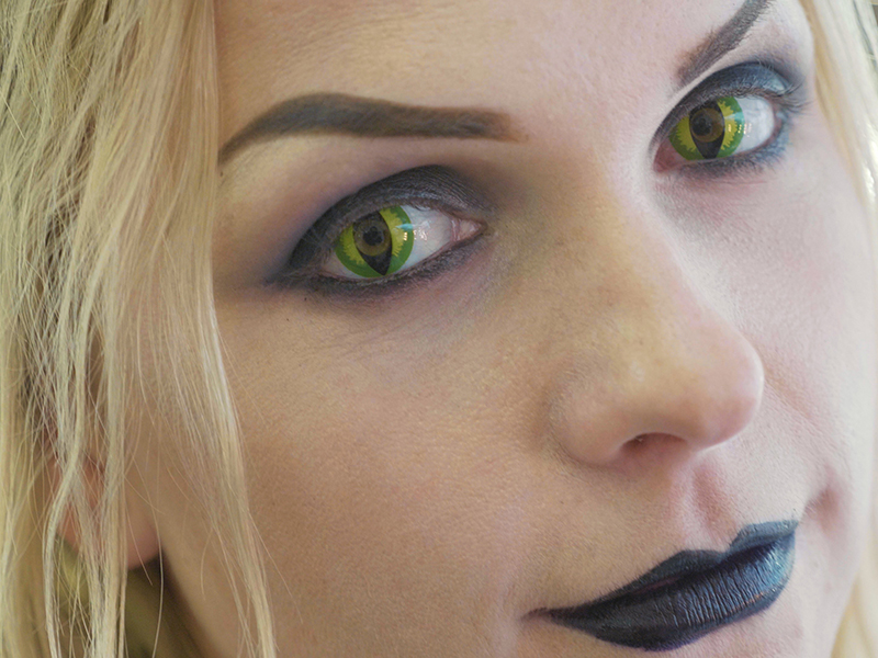 Halloween costume contacts can make the wearer a party hit, but at the price of infections or corneal damage.