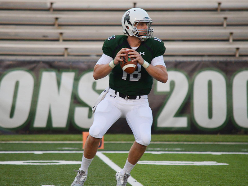 While passing for Delta State, Tyler Sullivan set a record for completion percentage.