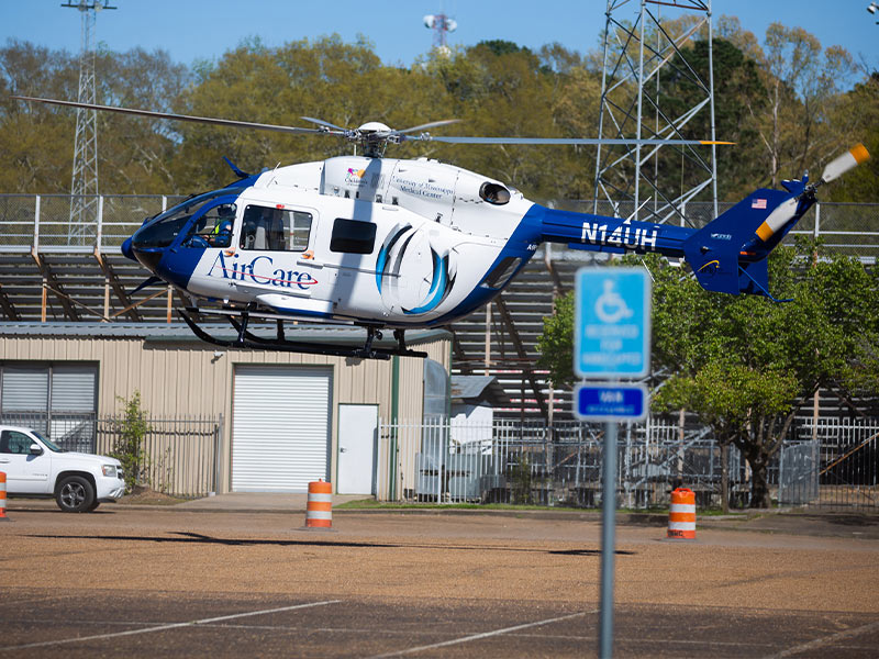 UMMC's AirCare is the state's most advanced medical helicopter transport.