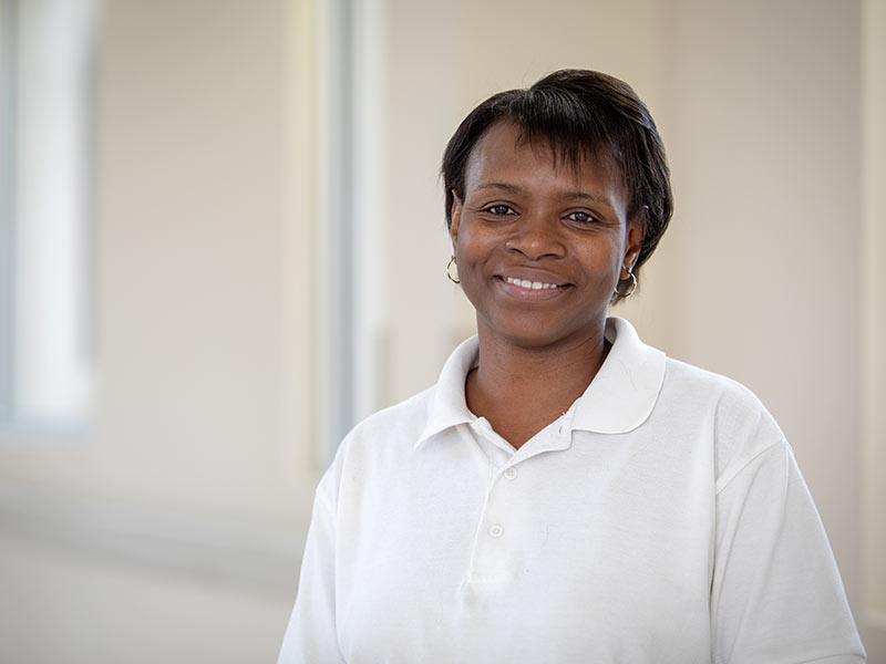 Lillie Bledsoe is a housekeeper in Environmental Services at UMMC Grenada.