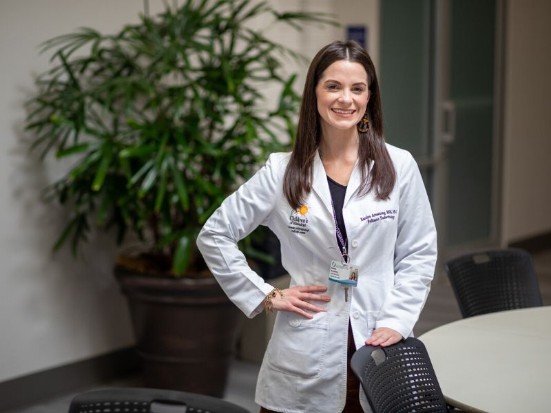 Katelyn Armstrong is a nurse practitioner in pediatric endocrinology.