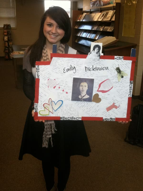 In this photo taken when she was a junior at Florence High School, India Byrd displays a poster for an English class project.