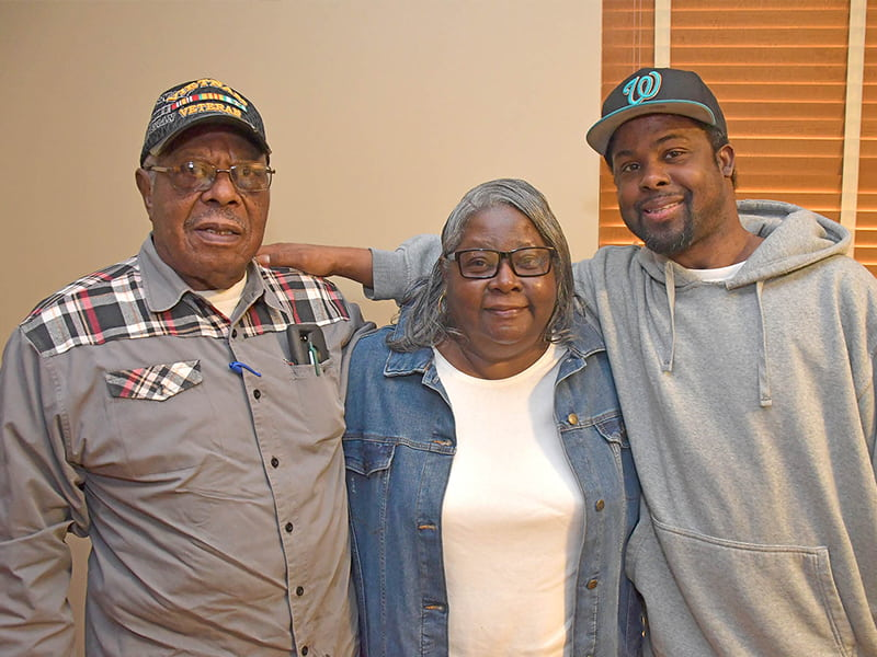Michael Jordan's parents Willie Johnson and Mary Jordan are happy to have their son back in Greenwood. A rare neuromuscular disease caused him to spend months at Methodist Specialty Care Center, a residential facility for people with severe disabilities. Photo by Carey Miller/Methodist Rehabilitation Center