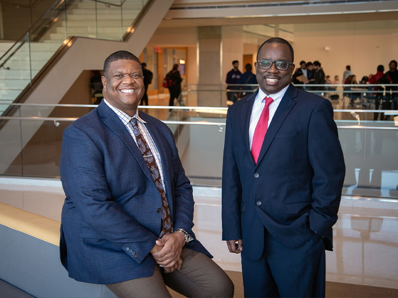 Portrait of Dr. Demondes Haynes and Dr. Dan Coleman