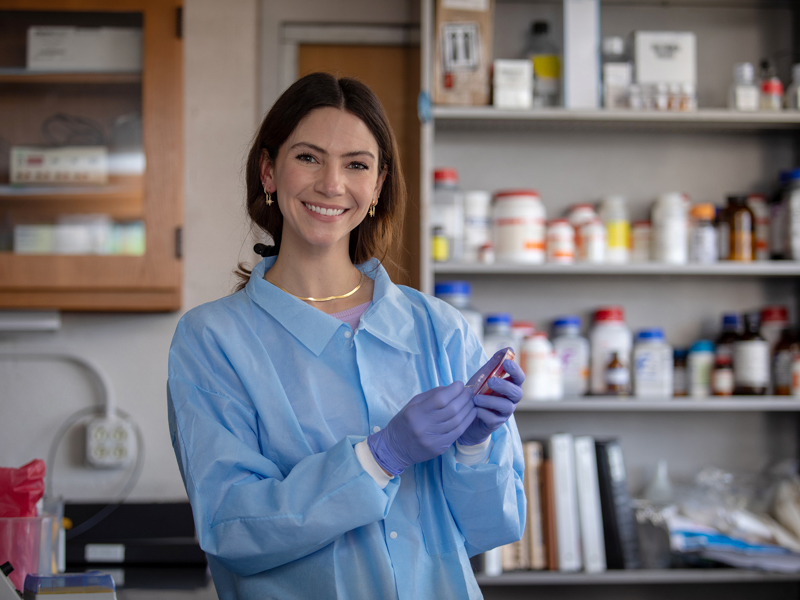 Meagan Wier, who just earned her master of science in biomedical sciences from UMMC, is working in the Department of Microbiology and Immunology this summer. She plans to enter the School of Medicine.