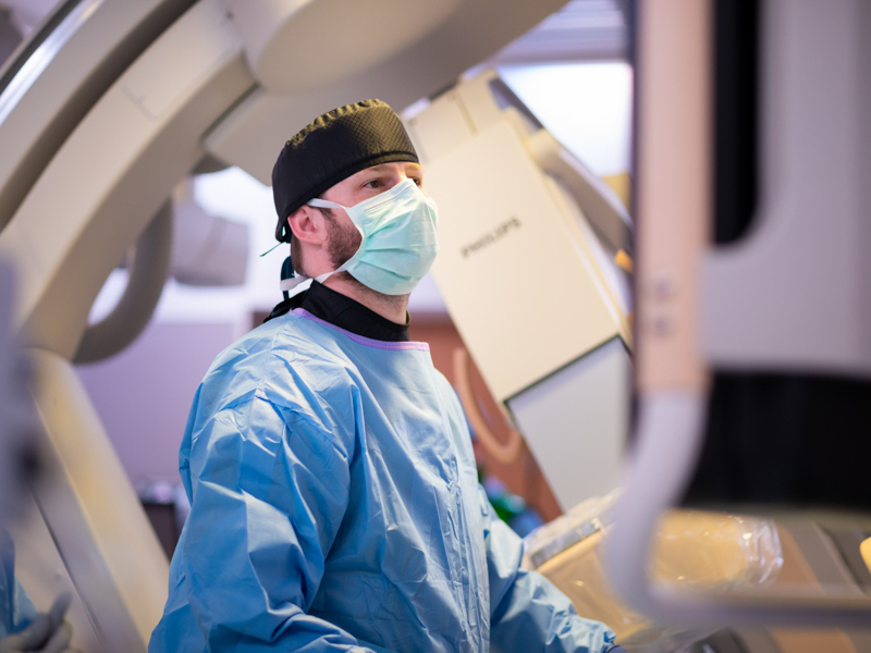 Hamilton makes sure everything is in order before commencing a patient procedure at University Heart.