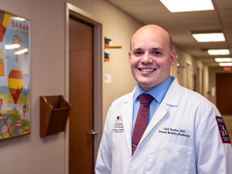 Dr. Caleb Zumbro is a pediatric and internal medicine resident.