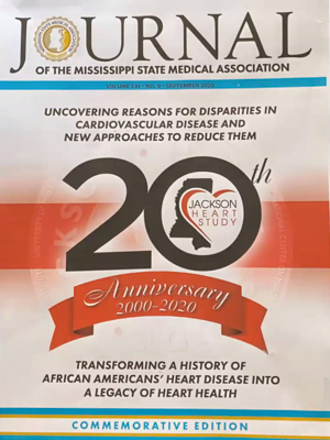 The cover of the Journal of the Mississippi State Medical Association's September 2020 issue celebrating the Jackson Heart Study.
