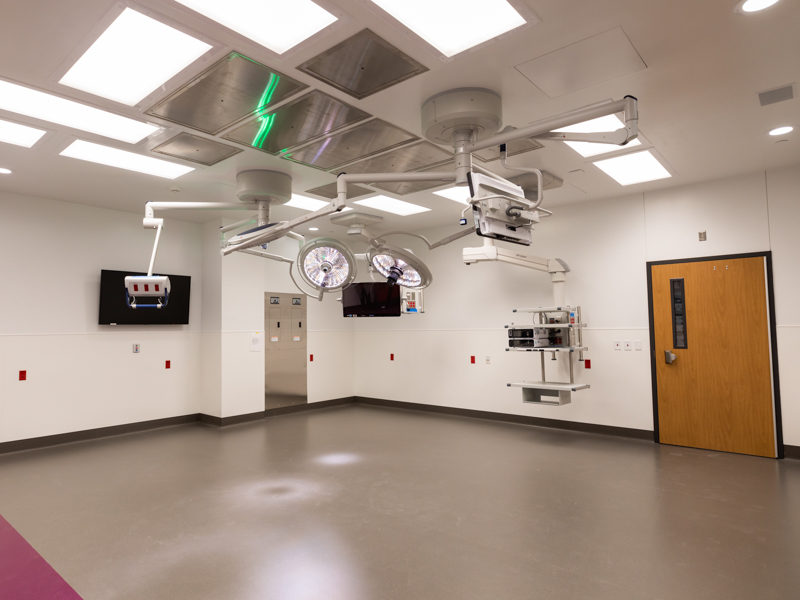 The 12 surgical suites inside the Sanderson Tower are 50 percent larger than existing pediatric operating rooms.
