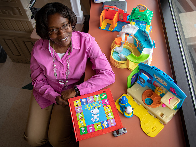 Child Life staff member Michelle Chambers offers children a space where they can play while getting well.