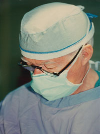 Dr. Hendrix wearing a surgical mask